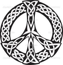 tattoos celtic designs celtic design peace symbol stock vector patrick guénette