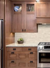brown kitchen cabinets with backsplash ba1092 travertine