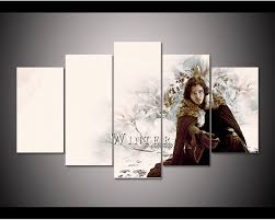 hd print 5pcs game of thrones ice and fire canvas wall art