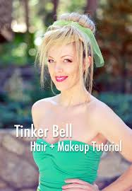 tinkerbell hairstyle tinker bell hair makeup tutorial diy costume babble