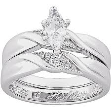 walmart wedding rings for personalized platinum plated marquise cubic zirconia with