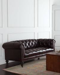 Old Hickory Tannery Morgan Aubergine Chesterfield Leather Sofa - Hickory leather sofa