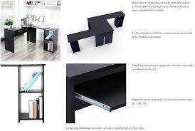 bureau informatique noir songmics bureau informatique table informatique meuble de