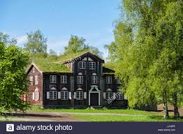 old traditional house in norway stock photo royalty free image