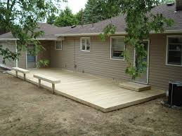 Small Backyard Deck Patio Ideas Small Ground Level Decks Here U0027s A Ground Level Deck With A