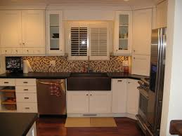 White Kitchen Cabinets With Black Countertops White Kitchen Cabinets With Black Countertops