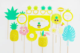 pineapple decorations props tropical hawaiian