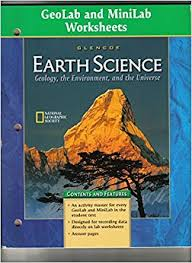 geolab and minilab worksheets glencoe earth science geology the