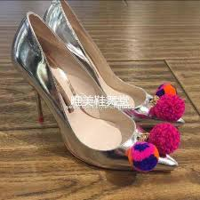 wedding shoes size 11 zobairou new sweet colored plush silver pumps wedding shoes