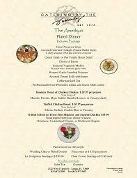 Buffet Menu For Wedding by Directory Menus