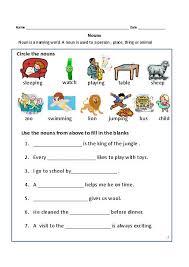 nouns exercises for first grade common proper nouns worksheet 2nd