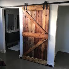 Barn Wood Basement Sliding Doors Grain Designs