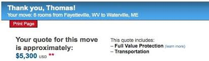 Moving Company Quotes Estimates by How To Estimate Moving Cost A Better Way Nation