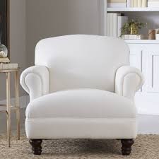 White Armchair With Ottoman Farmhouse Accent Chairs Birch Lane