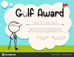 certificate template for golf award stock vector certificate template for golf award illustration vector interactimages