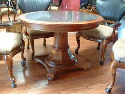 Granite Dining Room Sets by Round Wooden Dining Table Round Railway Sleeper Dining Table