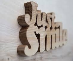just smile wooden words decorative wood letters wall dma homes