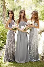 wedding and bridal dresses best 25 silver grey bridesmaid dresses ideas on