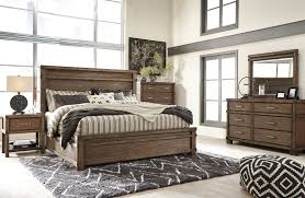 Modern Queen Bedroom Set Ashley Furniture B614 Leystone Modern Queen Or King Panel Bed
