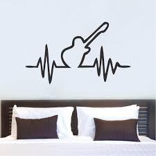Wall Bedroom Stickers Guitar Beat Bedroom Decal Sticker Guitar Bedroom Bedroom Wall