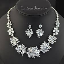 wedding necklace designs new design luxury high quality green white blue flower bridal