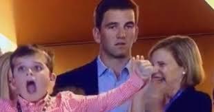 Manning Face Meme - eli manning explains that super bowl face after brother peyton led