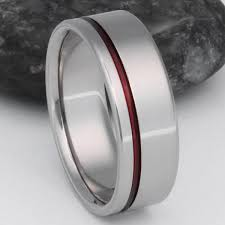 titanium wedding rings dangerous thin line titanium ring r2 titanium rings studio