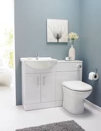 Modern Vanity Units For Bathroom by Homcom White Gloss Bathroom Vanity Unit And Ceramic Basin Sink