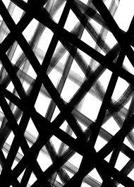 painted crosshatch black white pattern design