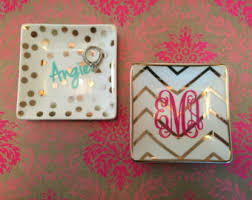 monogrammed tray medium acrylic monogram jewelry tray personalized tray desk