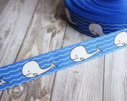 whale ribbon whale etsy
