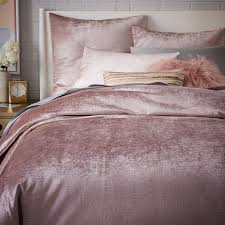 Velvet Comforters King Size Washed Cotton Luster Velvet Duvet Cover Shams West Elm