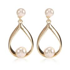 allergy free jewelry trendy lead tin alloy allergy free simulated pearl earrings water