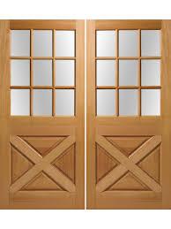 9 Lite Exterior Door Exterior Fir Crossbuck 9 Lite Door 6 8 Height 1 3 4 Thick
