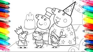peppa pig granny and grandpa pig coloring book page kids fun art