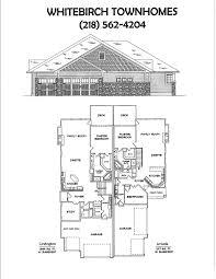 Covington Floor Plan by Whitebirch Village Breezy Point Mn Real Estate Townhome