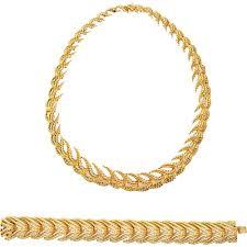 tiffany bracelet images Bold french tiffany co 18k gold necklace bracelet set circa jpg