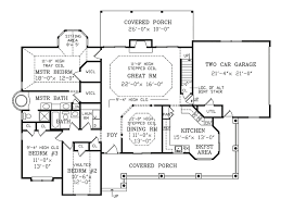 Country House Plan by Houseplans Com Country Farmhouse Main Floor Plan Plan 456 6