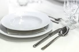 free images fork white glass restaurant ceramic plate eat