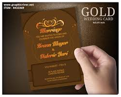 marriage cards gold wedding cards by blogankids graphicriver