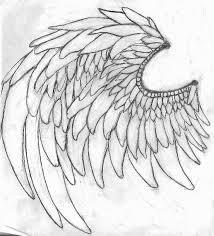 angel warrior wing sketch by zretrareo27 on deviantart