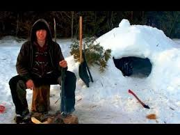 How To Build An Igloo In Your Backyard - survival how to build a quinzee snow hut youtube