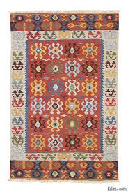 Kilim Area Rug K0003877 Multicolor New Turkish Kilim Area Rug