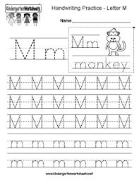 letter m writing practice worksheet l m n o p unit pinterest