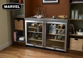 under cabinet beverage refrigerator marvel 24 glass door refrigerator beverage center stainless stylish