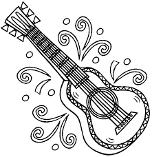 large guitar coloring page guitar coloring page all types of coloring pages musical guitar