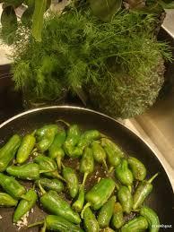 cuisiner les poivrons verts pimientos de padron un an pour faire cooking out