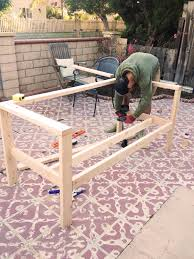 Build Wood Outdoor Furniture by Our Diy Patio Sofa U2013 Vivagood