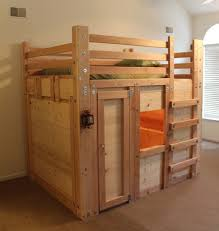 Free Plans For Full Size Loft Bed by Diy Bed Fort Plans Palmettobunkbeds Com Bed Forts Pinterest