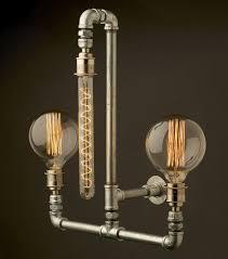 Steunk Light Fixtures Edison Light Globes Part 2 Brassy Steunk Style